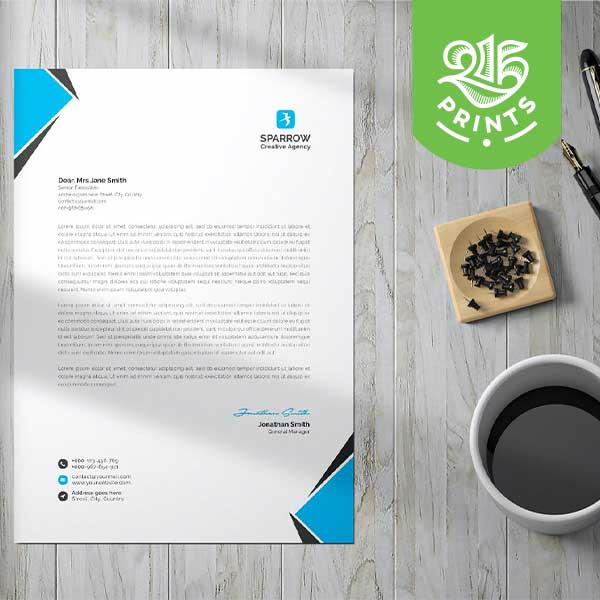 1 and 2 Color Letterhead