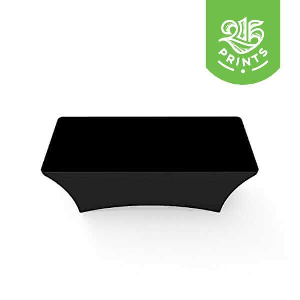 Solid Black Stretch Table Throw